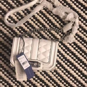 NEW! Rebecca Minkoff White Mini Love Crossbody